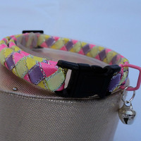 Cat Collar Breakaway in Pastel Candy Colours