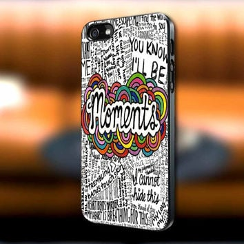 One Direction Moments Lyric iPhone case, One Direction Moments Lyric Samsung Galaxy s3/s4 case, iPhone 4/4s case, iPhone 5 case