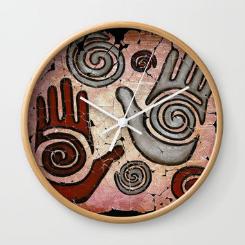 Healing Hands Wall Clock by Lena Owens/OLenaArt