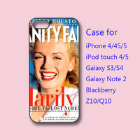 Marilyn Monroe,iPhone 4  case, iphone 5 Case -in durable black or white plastic  case, ipod 4 case,ipod 5 case,galaxy s3 case