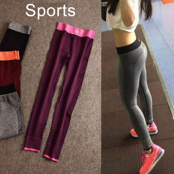 2015 Women'fashion Fitness Women Running Tights Sports Pants Gym Leggings = 1741733508