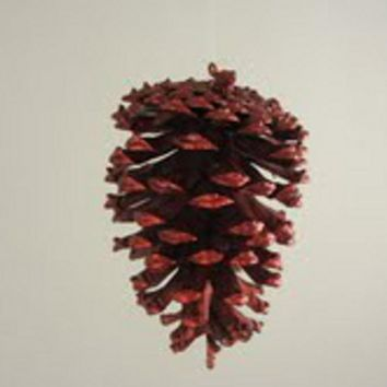 """4"""" Nature's Glow Red Natural Pine Cone Christmas Ornament"""