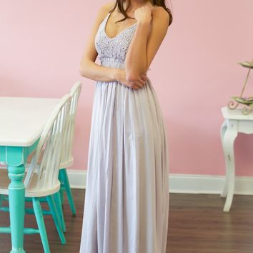 RESTOCK: Purple Open Back Maxi Dress