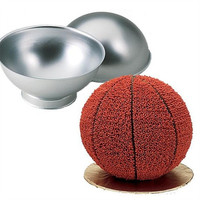 DIY Aluminum 3D Ball Sphere Bomb Shaped Cake Pan Tin Baking Mold Pastry Mould = 1705111172