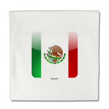 "Mexican Flag App Icon Micro Fleece 14""x14"" Pillow Sham by TooLoud"