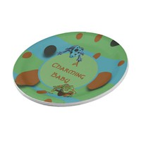 A Charming Baby Frogs Paper Plate