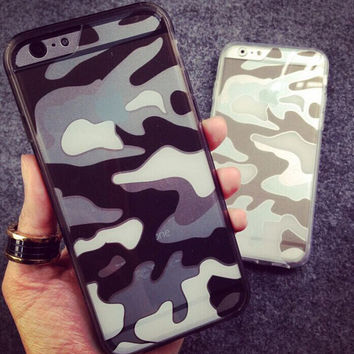 Hollow Out Camoufalge iPhone 5s 6 6s Plus creative case Gift-145