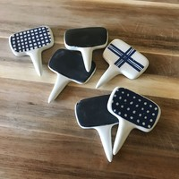 Rae Dunn Chalkboard Cheese Markers - Set of 6 with Gift Box