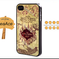 Marauders Map Harry Potter, iPhone 5C case, iPhone 5 case, Resin phone cases,Note 3 case, iPhone 4 case, Galaxy S5 case--N0074