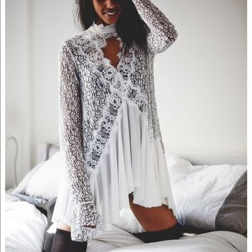 Free People Secret Origins Lace Tunic