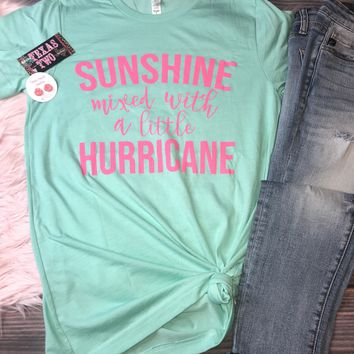 Sunshine Mixed with a Little Hurricane Graphic Tee (S-XL)