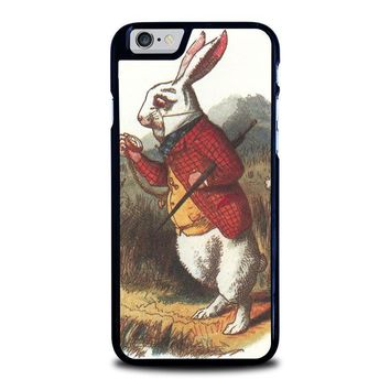 white rabbit alice in wonderland disney iphone 6 6s case cover  number 1