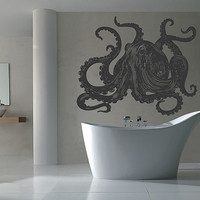 kik1210 Wall Decal Sticker octopus marine animals living room bathroom