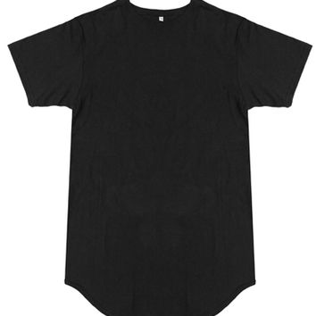 Knyew - Black E Long Tee - T-Shirts, Knyew, Collection, Womens, T-Shirts - KNYEW Clothing Boutique