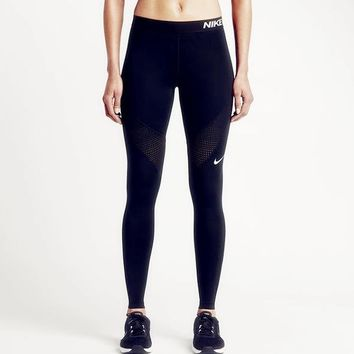 Nike Pro Exercise Fitness Gym Running Training Leggings-2