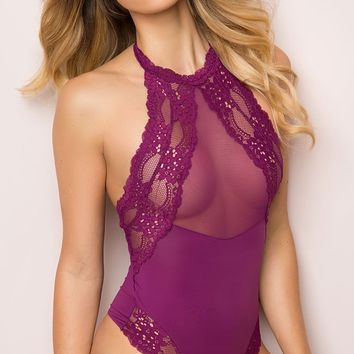 Purple Lace Teddy Lingerie