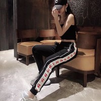 hcxx 564 Champion Fitness side striped casual Sport Pencil Pants