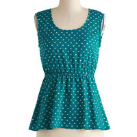 Teal Sea Top | Mod Retro Vintage Short Sleeve Shirts | ModCloth.com