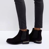 Truffle Collection Metal Trim Flat Chelsea Boot at asos.com