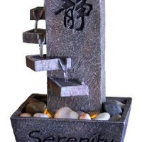 Tiered Serenity LED Indoor Fountain, Tabletop