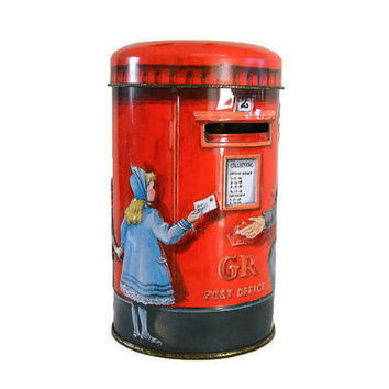 Vintage Coin Bank TIN Churchills Heritage of England Post Box Retro Money Box Decorative Tin Container Mothers Gift Mom Gift Piggy Bank