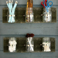 Triple Mason Jar Wall Planters