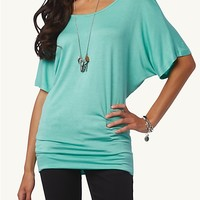 Short Sleeve Dolman Tunic