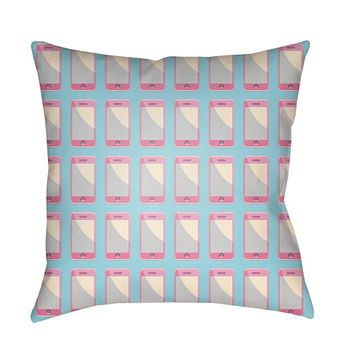 Warhol Pillow Cover - Bright Pink, Bright Purple, Lilac, Pale Blue, Cream - WA007