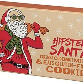 Hipster Santa Gluten Free Box Wooden Sign
