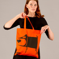 Tote Shopping Bag Orange