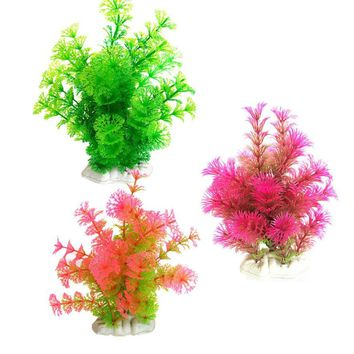 2016 fish Aquarium Ornament Decorations Landscape Plastic Aquarium Decoration Plants Fish Tank Landscape Decoration accessories