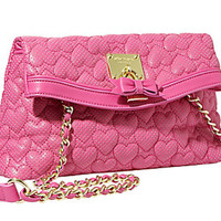 Betsey Johnson Always Be Mine Crossbody Pink