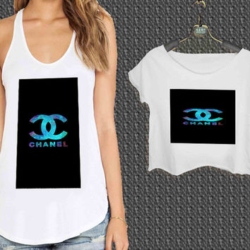 Coco Chanel Rainbow For Woman Tank Top , Man Tank Top / Crop Shirt, Sexy Shirt,Cropped Shirt,Crop Tshirt Women,Crop Shirt Women S, M, L, XL, 2XL*NP*