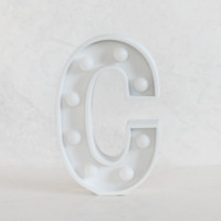 C Initial White Marquee Light