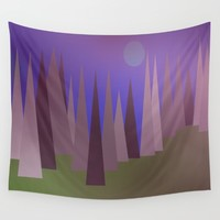 Blue Moon Wall Tapestry by Kathleen Sartoris