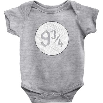 9 3 4 nine three quarters harry potter hogwarts Baby Onesuit