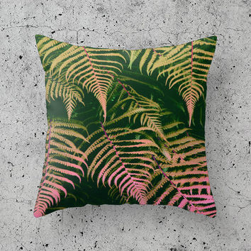 "Tropical Cushion / Pillow Cover - 18"" x 18"" - Tropical Pattern - Decorative Pillow - Home Decor - Hipster Pillow - Tropical Decor - Palm"