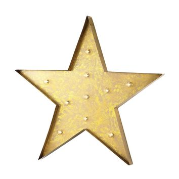 Star Marquee Sign In Antique Yellow