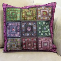 Geo Squares Pillow Cover from Thailand