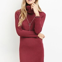 Marled Turtleneck Dress