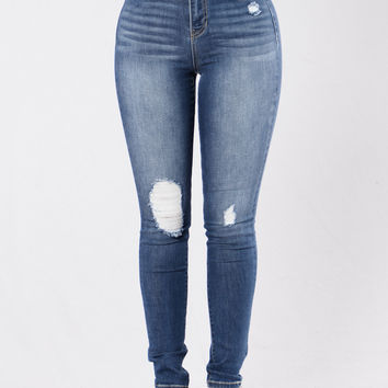 Just A Text Jeans - Medium Dark