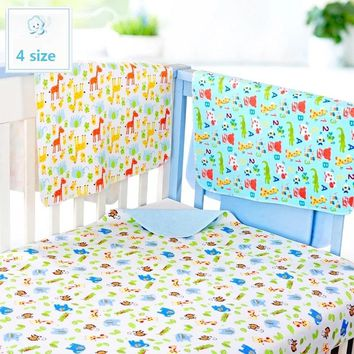 4 size 3 Layers Baby Bamboo Changing Pads Newborn Baby Changing Pad For Infant Child Bed Waterproof Changing Mat For Crib