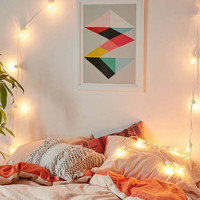 Faceted Bulb String Lights - Urban Outfitters