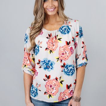 Uptown Floral Blouse