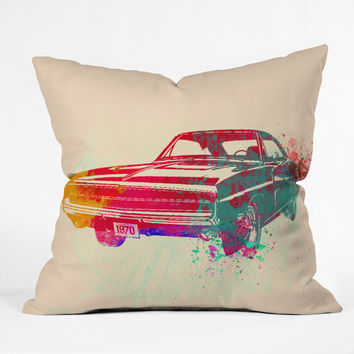Naxart 1967 Dodge Charger 1 Throw Pillow