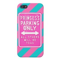 Savvy iPhone 5 Princess Parking Only Diag' Striped iPhone 5 Case from Zazzle.com