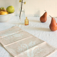 ecru thistles batik wedding napkins