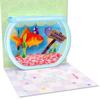 Pop-Up Treasures Greeting Card - Goldfish Birthday
