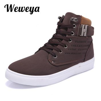 Weweya New 2017 Retro Style Mens Casual Shoes Spring Autumn Vintage Low Boots High Top Men Shoes Plus Size 47 Casual Shoes Men