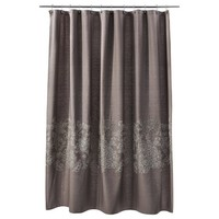 Threshold™ Floral Shower Curtain - Brown Linen
